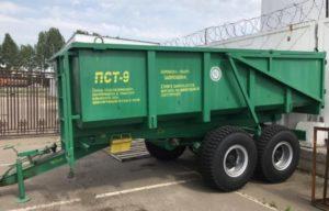 Характеристики тракторного самосвального полуприцепа ПСТ-9