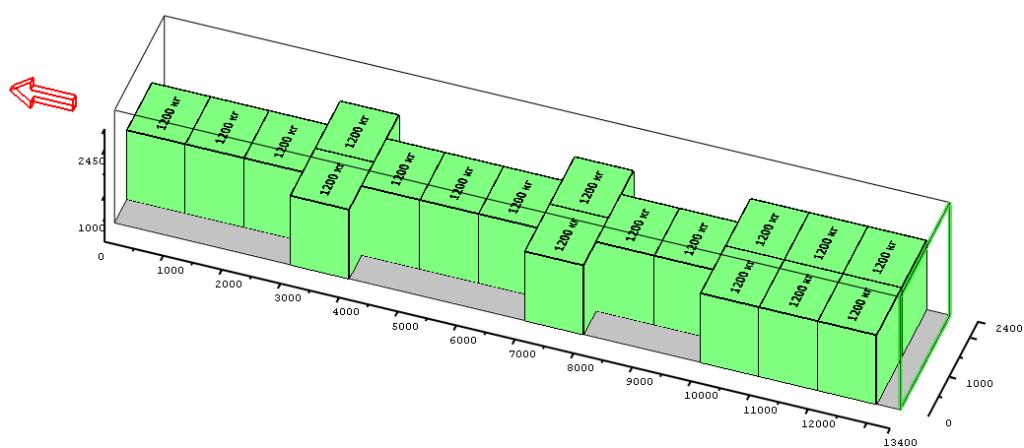 Схема расстановки палет