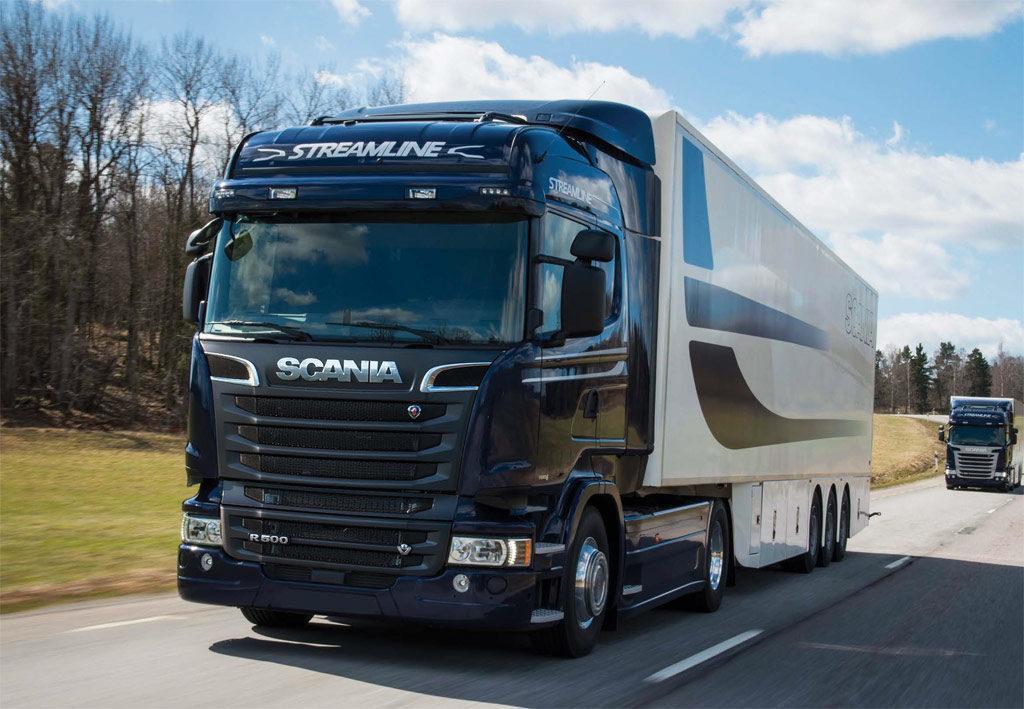 Современный седельный тягач Scania