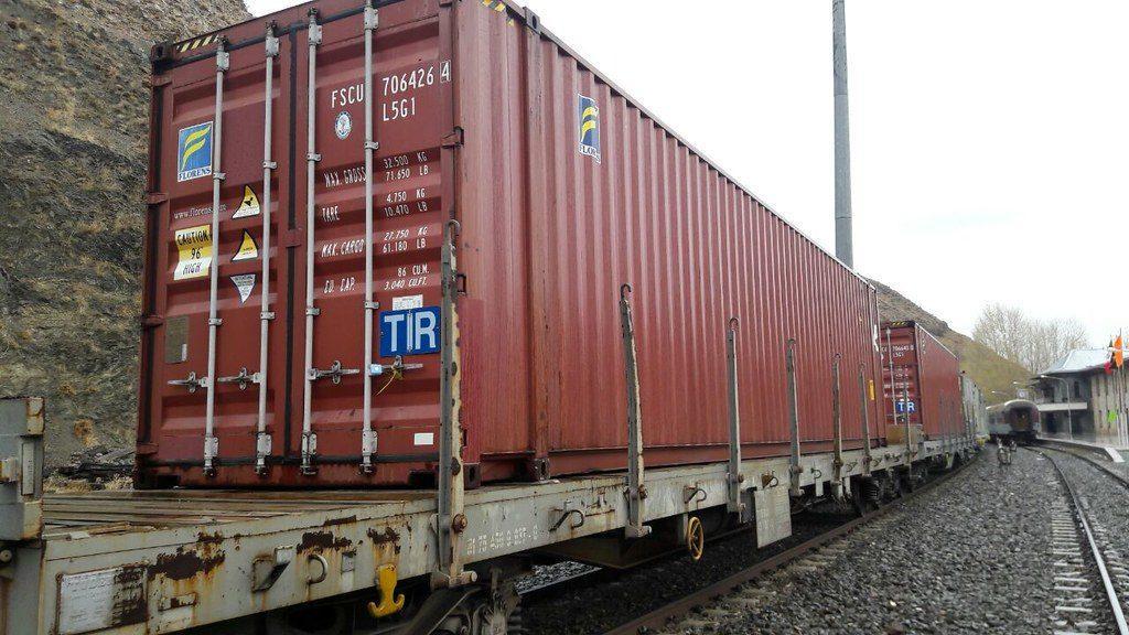 TIR на контейнере