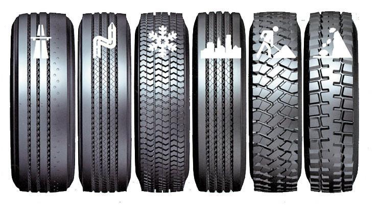 Типы грузовых шин