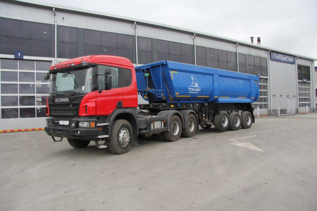 Тягач Scania с полуприцепом Тонар