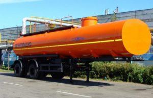 Перевозка жидких продуктов полуприцепом-цистерной нефаз