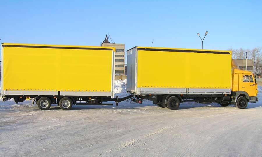 КамАЗ 4308 с прицепами