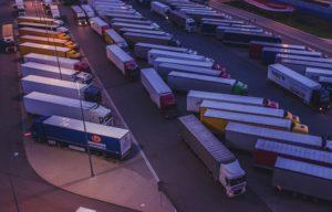 Стоянка для грузовых машин