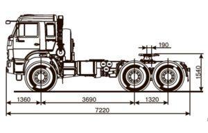Модификация седельного тягача КамАЗ-53504