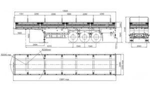 Характеристики полуприцепа МАЗ 975800