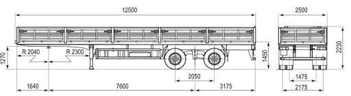 Характеристики полуприцепа МАЗ 938660